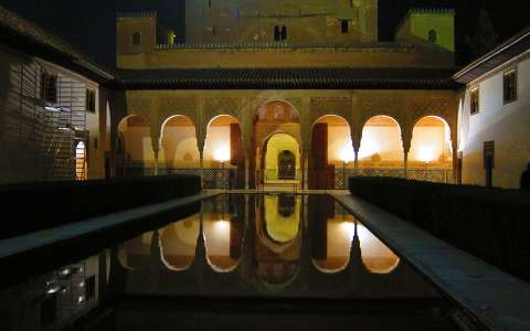 GRANADA-SPAIN, ALHAMBRA BY NIGHT