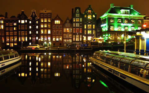 AMSTERDAM,  LIGHTS IN THE NIGHT