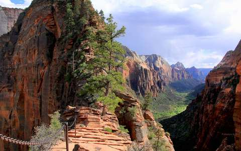 Angels Landing trail, Zion NP, Utah