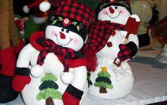 hóember karácsonyi dekoráció