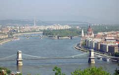 Budapest, Lánchíd, Duna, Magyarország