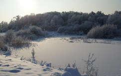 Szent Anna-tó befagyva
