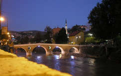 Szarajevó, éjjel, Bosznia-Hercegovina