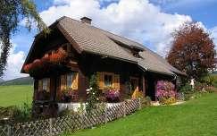 kerítés ausztria virágcsokor és dekoráció ház faház