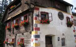 muskátli ablak ausztria virágcsokor és dekoráció ház