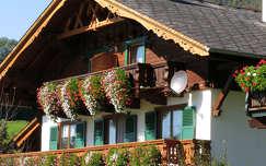 ausztria muskátli virágcsokor és dekoráció ház