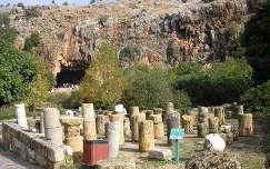 Augustus római császár építtette palota romjai. Caesaera Philippi    Izrael