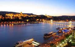 Esti fények, Duna, Budapest, Magyarország