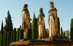 Córdoba, Espana, Los Reyes Cristianos con Cristóbal Colón en Las Jardines del Alcázar