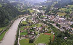 Werfen látképe a várból, Ausztria