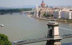 Duna és a Lánchíd, Budapest, Magyarország