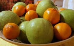 alma narancs gyümölcs gyümölcskosár