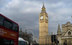 Anglia, London, Big Ben, London Eye és egy Double Decker