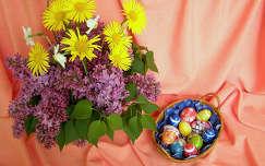 Húsvéti virágcsokor, tojás