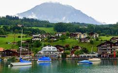 Interlaken, Thun-tó, Svájc, Alpok