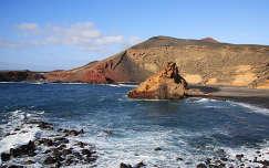 El Golfo lagúna, Lanzarote, Kanári-szigetek
