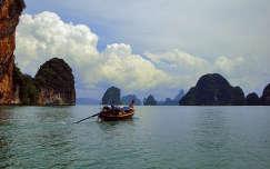 Phang Nga-öböl, Phuket, Thaiföld.