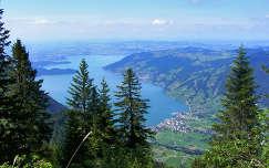 Zugi tó a Rigi Scheidegg- ről, Svájc