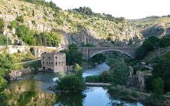TOLEDO - Spain, Puente de Alcantara, Rio Tago