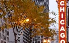 chicago fa felhőkarcoló usa ősz
