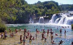 krka vízesés nyár horvátország