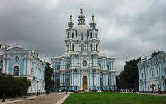Szentpétervár, Szmolnij-székesegyház és a kolostor épületei Oroszország