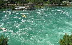 Schaffhausen a Rajna vízesésnél,Svájc