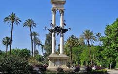 SEVILLA, parque de Murillo, MONUMENTO A COLÓN