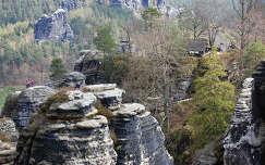bastei-sziklák kövek és sziklák szász-svájc németország
