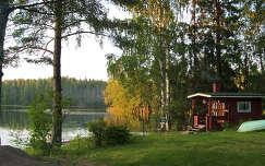 Finnország, tóparti szauna