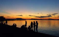 Balatonboglári naplemente