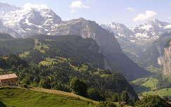 Lauterbrunneni völgy a Jungfrau vonulatával,Svájc