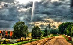 út fény felhő
