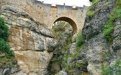 Spain,the city Ronda, view at the Old Roman Bridge