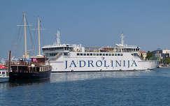 Zadar, kikötő, Jadrolinija, Horvátország