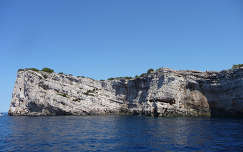 Kornati Nemzeti Park mészkősziklája, Horvátország