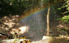 szivárvány fény eső