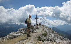 A Sassongher tetejen, Olasz Alpok, Olaszorszag