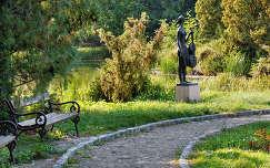 Park,szobor,kert,ősz