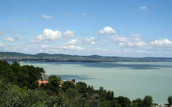 Magyarország, Tihany, kilátás az Apátságtól a Balatonra