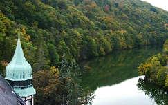 A Hámori-tó a lillafüredi Palotaszálló tornyából