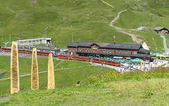 Jungfrau, a Kleine Schneidegg vasútállomás, Svájc