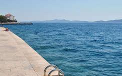 Zadar, tengerparti sétány, Horvátország