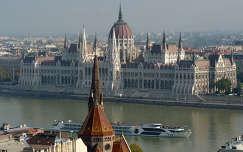 Magyarország, Budapest, Országház, Duna, hajó