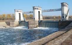 Békésszentandrás - Hármas-Körös - Duzzasztógát - vízlépcső -fotó: Kőszály