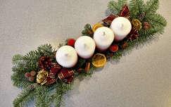 gyertya karácsonyi dekoráció advent