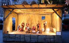 betlehemi j�szol kar�csonyi dekor�ci� �jszakai k�pek kar�csony