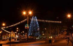 Erdély-Szováta este , Medvetó melleti park