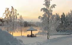 Téli folyópart, Svédország
