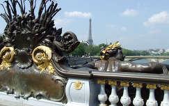 Látkép a Szajnáról, Párizs,III.Alexandre hid.